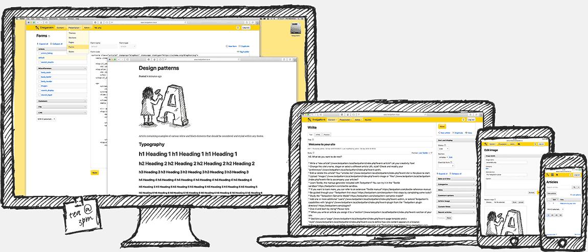 Textpattern Screenshots