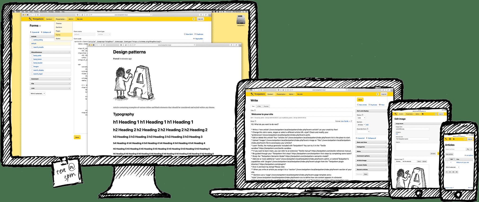 Textpattern CMS screenshots