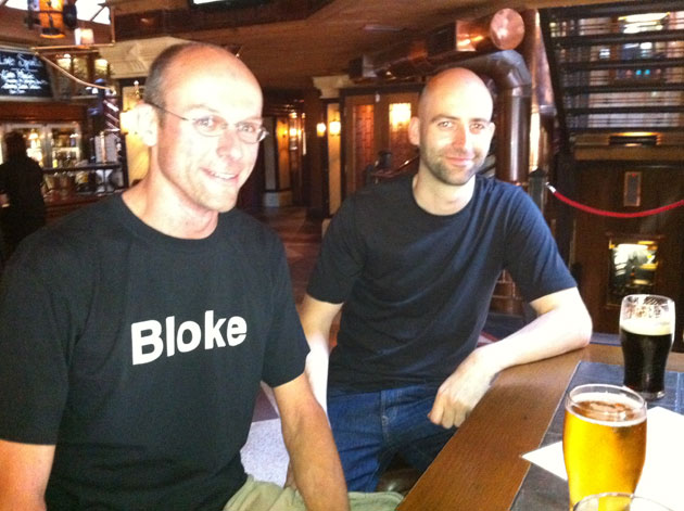 Stef Bloke and Phil Wareham at the Porterhouse