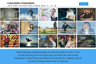 Solborg Folkehøgskole website